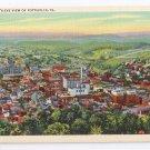 Pottsville PA Postcard Birds Eye Aerial View Curteich Linen