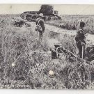 Military WWI Whippet Tank in Action France Chicago Daily News Postcard
