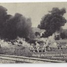Military WWI Giving Germans Gas France Americans Chicago Daily News Postcard