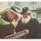 Amish Men Mennonite Public Sale Postcard Lancaster Co PA Frey Photocago Daily News Postcard
