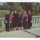 Amish Girls Mennonite Lancaster PA Traditional Sunday Clothing Vintage Postcard