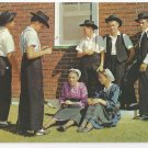 Amish Postcard Mennonite Teens Lancaster PA Boys Girls Traditional Hats Caps Clothing