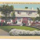 Beverly Hills CA George Burns Gracie Allen Residence Linen Postcard