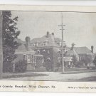West Chester PA Chester County Hospital 1907 Henrys Souvenir Postcard