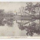 Lancaster PA Peoples Bathing Resort 1906 Undivided Back Postcard