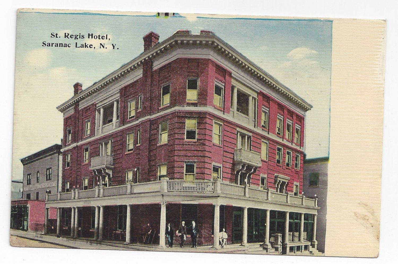 Saranac Lake NY St. Regis Hotel ca 1910 New York Postcard