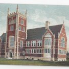 Brunswick ME Bowdoin College Hubbard Hall Library c 1905 Leighton postcard