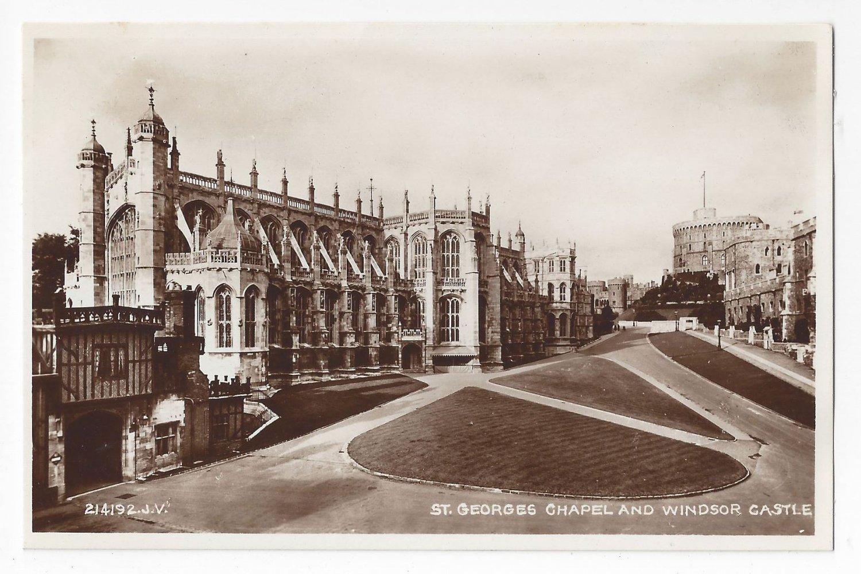 UK Windsor Castle St Georges Chapel RPPC Valentines Real Photo Postcard