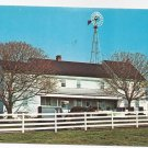 Amish Pennsylvania Dutch Farm House Windmill Vintage Postcard Lancaster County