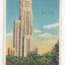 Pittsburgh PA Cathedral Of Learning Carnegie Tech University Linen Postcard