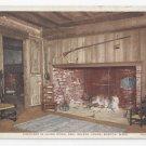 Boston MA Fireplace Paul Revere House Vintage Photostint Postcard