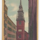 Boston MA Old North Church Vintage 1942 Linen Postcard