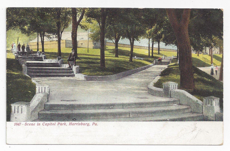 Harrisburg PA Capitol Park Vintage 1907 UND Postcard