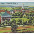 PA Reading Hospital and Nurses Home Vintage Linen Postcard