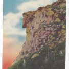 NH Old Man of the White Mountains Vintage Linen Postcard