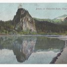 OR Banks of Columbia River Oregon Vintage Postcard