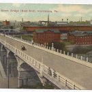 PA Harrisburg Mulberry Street Bridge Vintage Postcard