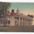 VA Mount Vernon Washingtons Mansion Vintage 1907 Postcard