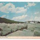 VT West Rutland Marble Block Storage Yard Vintage Postcard 4X6