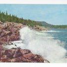 ME Bar Harbor Surf Ocean Drive Acadia Natl Park Vintage 1970 Postcard