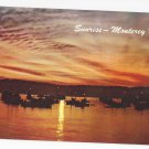 CA Sunrise Monterey Bay Fishing Fleet Vintage 1968 Postcard