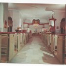 VA Williamsburg Bruton Parish Church Interior Vintage Postcard