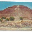 Mexico Piramide Del Sol San Juan Teotihuacan Vintage Postcard