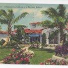 FL Miami Beach Home Vintage 1954 Linen Postcard