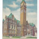 Canada Toronto City Hall Vintage Linen Postcard