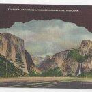 CA Yosemite National Park Portal of Grandeur Vintage Linen Postcard