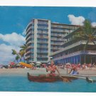 HI Reef Hotel Beach Waikiki Hawaii Outrigger Vintage 1960 Postcard