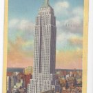 NY Empire State Building New York City Vintage 1947 Linen Postcard