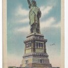 NY Statue of Liberty Vintage 1945 New York City Linen Postcard