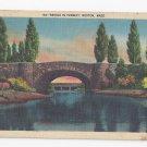 MA Boston Bridge in Fenway Vintage 1942 Linen Postcard