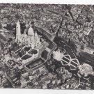 RP Paris France Aerial View Sacre Coeur Cathedral Vintage Postcard 4X6