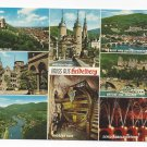 Germany Gruss aus Heidelberg Multiview Vintage Postcard 4X6
