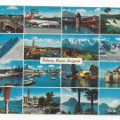 Switzerland 16 Views Multiview Swiss Alps Vintage Postcard 4X6