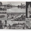 Switzerland Zurich Multiview Vintage 1954 Postcard 4X6
