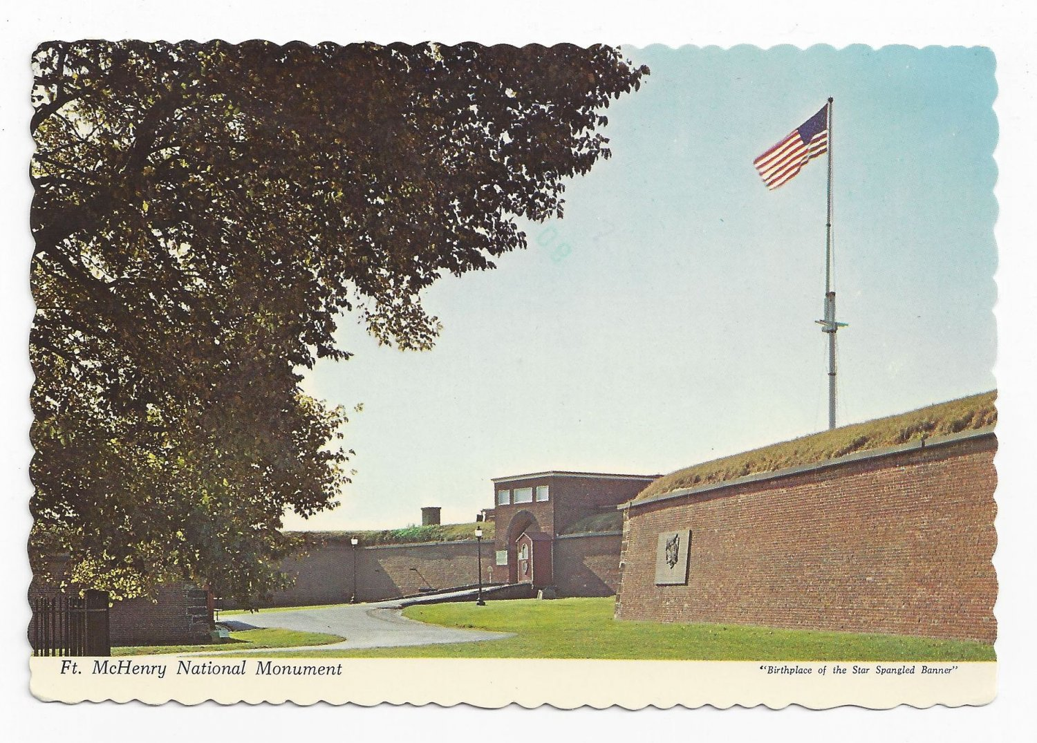 Baltimore MD Ft McHenry National Monument Vintage 1968 Postcard 4X6