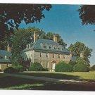 VA Williamsburg Carters Grove Plantation Vintage Postcard