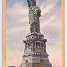 NY Statue Of Liberty New York Harbor Vintage 1951 Linen Postcard