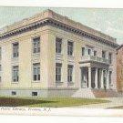NJ Trenton Free Public Library Vintage UDB 1910 Postcard