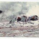 MT Yellowstone Grotto Geyser Cone Geyserite Silcon Formation Vtg Postcard