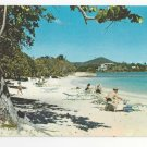 St Thomas Virgin Islands Sapphire Bay Beach Scene Vtg Postcard