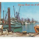 Florida Key West Shrimp Boats Vintage Postcard