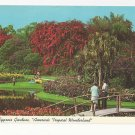 FL Cypress Gardens Flowers Bridge Vintage Postcard Florida