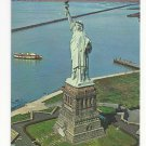 NY Statue of Liberty New York Harbor Liberty Island Vintage Postcard