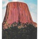 WY Devils Tower Black Hills Rock Formation Vintage Postcard