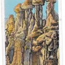 WY Hells Half Acre The Idols Rock Formation Vintage Postcard