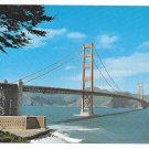 CA San Francisco Golden Gate Bridge Vintage Postcard